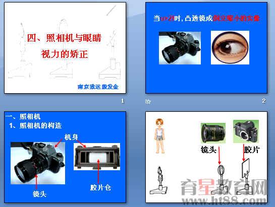 《照相机与眼睛,视力矫正》ppt