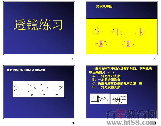 初三物理下学期透镜成像专题训练ppt