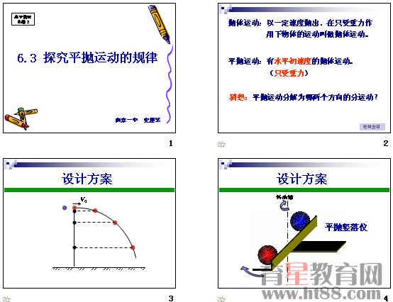 【定义2】平抛运动:初速度沿水平方向的抛体运动