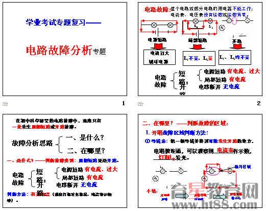 电路故障分析ppt1